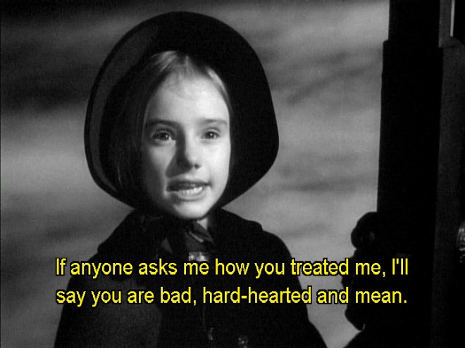 Shades of Lady' Edith in a screengrab from Orson Welle's _Jane Eyre_ (1944)