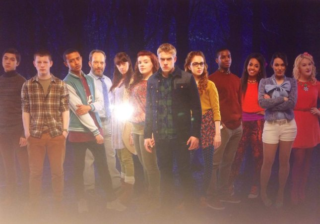 The cast--in character--of British supernatural teen drama Wolf Blood.