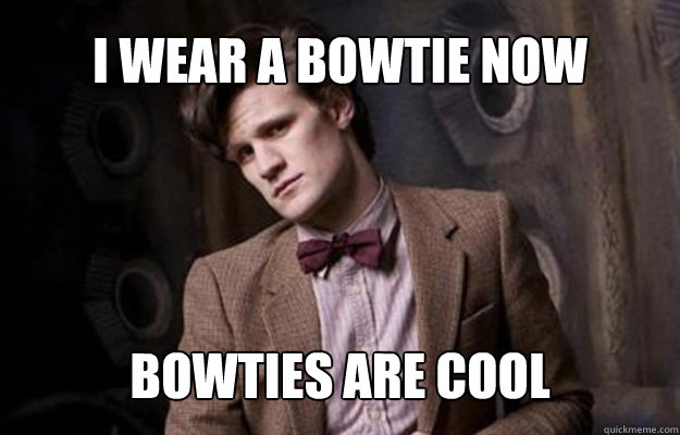Matt Smith as Dr Who Bowties are Cool